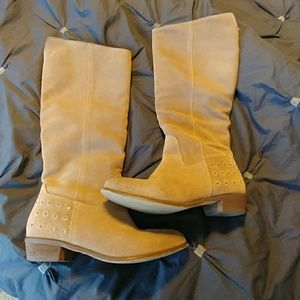Tall tan suede Naughty Monkey boots